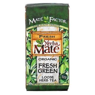 Mate Factor, Yerba Mate orgánica,verde fresco, té a granel, 12 oz (340 g)