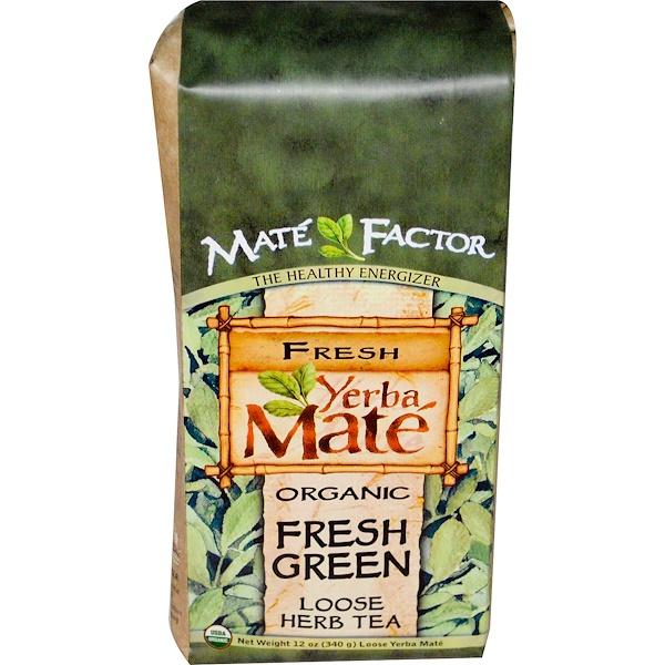 Organic Yerba Mate, Fresh Green, Loose Herb Tea, 12 oz (340 g)