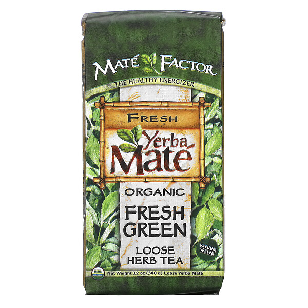 Mate Factor, Organic Yerba Mate, Fresh Green, Loose Herb Tea, 12 oz (340 g)