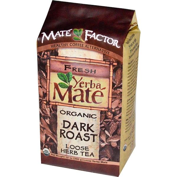 Mate Factor, Organic Yerba Mate, Dark Roast, Loose Herb Tea, 12 oz (340 g) (Discontinued Item)