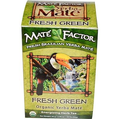 Органический Yerba Mate, свежий зеленый чай 24 чайных пакетиков, 2.96 унции (84 г) чай мате yerba mate playadito листовой 1000 г