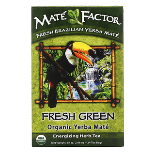Mate Factor, 有機馬黛茶,新鮮青茶,24 袋裝,2.96 盎司(84 克)