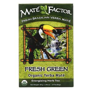 Мэйт Фактор, Organic Yerba Mate, Fresh Green, 24 Tea Bags, 2.96 oz (84 g) отзывы покупателей