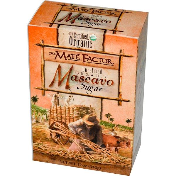 Mate Factor, Organic Mascavo Sugar, Unrefined, 12 oz (340 g) (Discontinued Item)