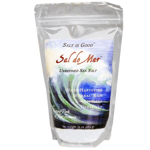 Sal do Mar, Sal do Mar Não Refinado, 16 oz (454 g)