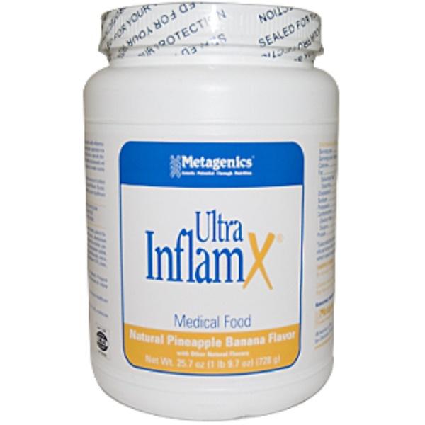 Metagenics, Ultra InflamX, Natural Pineapple Banana Flavor, 25.7 oz (728 g) (Discontinued Item)