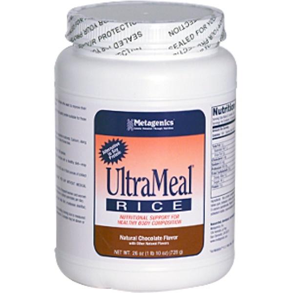 Metagenics, UltraMeal Rice, Natural Chocolate Flavor, 26 oz (728 g) (Discontinued Item)