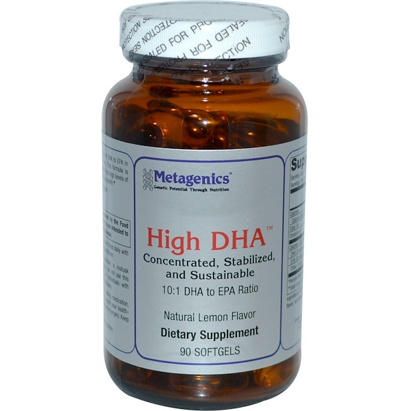 Metagenics, High DHA, Natural Lemon Flavor, 90 Softgels (Discontinued Item)