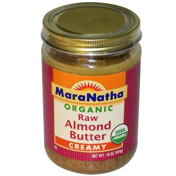 MaraNatha, Органическое сырое масло миндаля, кремообразной консистенции, 16 унций (454 гр) (Discontinued Item)