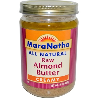MaraNatha, All Natural Raw Almond Butter, Creamy, 16 oz (454 g)