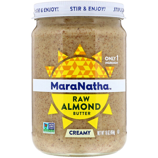 MaraNatha, Raw Almond Butter, Creamy, 16 oz (454 g)