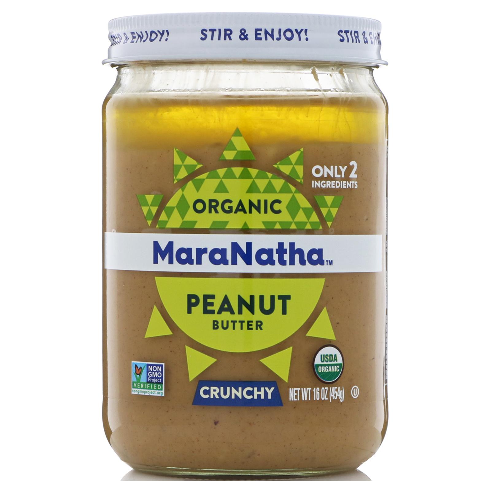 MaraNatha, Mantequilla de maní orgánica, crujiente, 16 oz (454 g ...