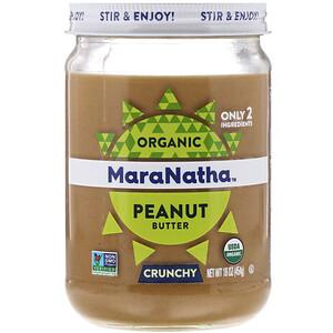 МараНата, Organic Peanut Butter, Crunchy, 16 oz (454 g) отзывы покупателей