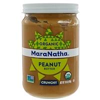 Органическое арахисовое масло, с кусочками арахиса, 454 г (16 унций) - фото