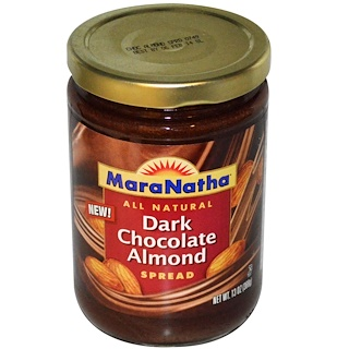 MaraNatha, Dark Chocolate Almond Spread, 13 oz (368 g)