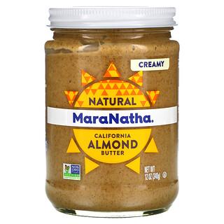 MaraNatha, 천연 캘리포니아산 아몬드 버터, 크리미, 340g(12oz)