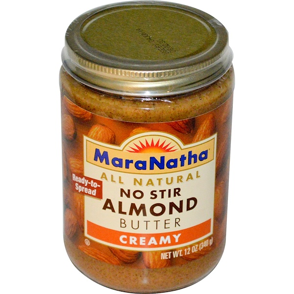 MaraNatha, No Stir Almond Butter, Creamy, 12 oz (340 g)