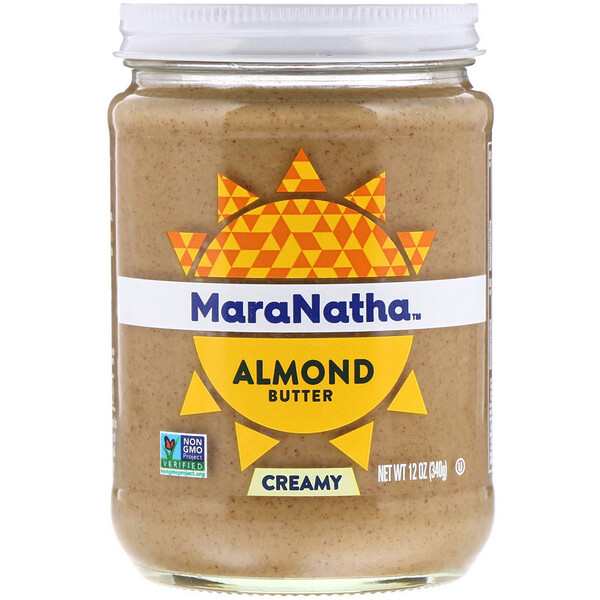 Almond Butter, Creamy, 12 oz (340 g)
