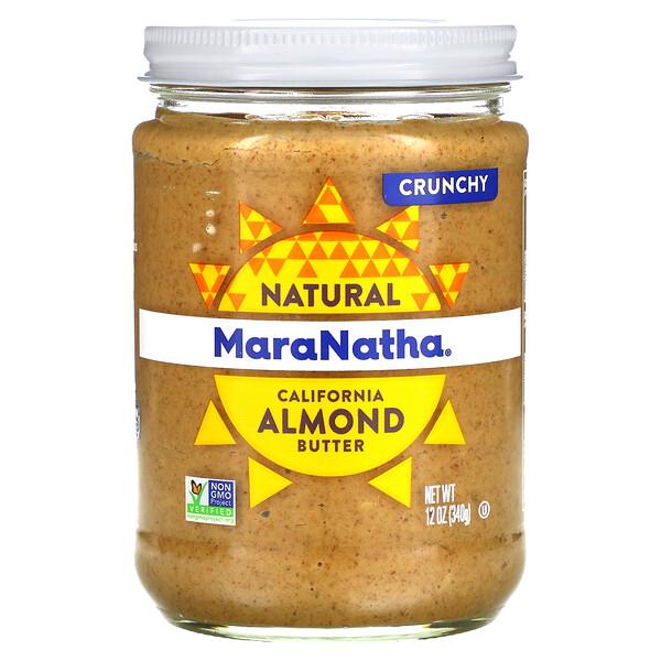 MaraNatha, Natural California Almond Butter, Crunchy, 12 oz (340 g)