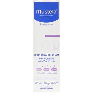 Mustela, Baby, Diaper Rash Cream 1-2-3, 3.80 oz (100 ml)