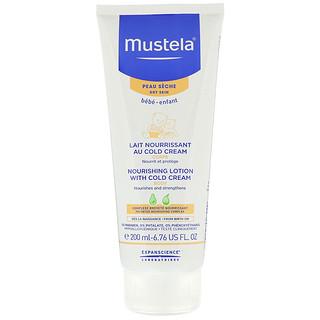 Mustela, Bebé, loción corporal nutritiva con crema fría, para pieles secas, 6.76 fl oz (200 ml)