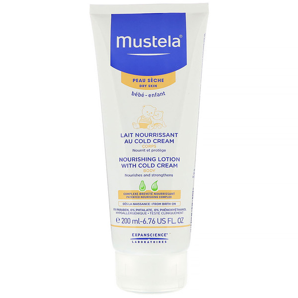 Mustela, Baby, Nourishing Body Lotion With Cold Cream, For Dry Skin, 6.76 fl oz (200 ml) (Discontinued Item)