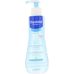 Mustela, 寶寶,免洗沖洗液,適合中性皮膚,10.14 液量盎司(300 毫升)