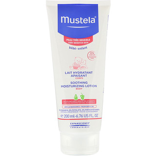 Mustela, Babé, loción corporal humectante calmante, para pieles muy sensibles, 6.76 fl oz (200 ml)
