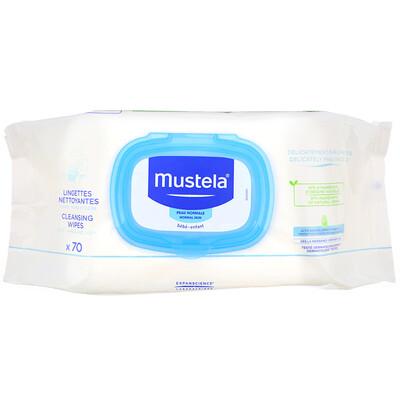 Купить Mustela Baby, Cleansing Wipes, 70 Wipes
