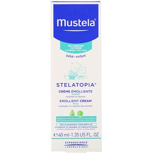 Mustela, Baby, Stelatopia Emollient Face Cream, 1.35 fl oz (40 ml) отзывы