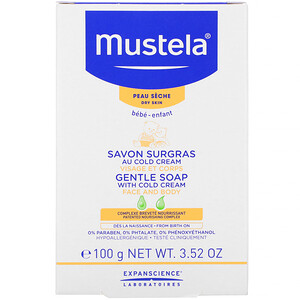 Mustela, Baby Gentle Soap with Cold Cream, 3.52 oz (100 g) отзывы