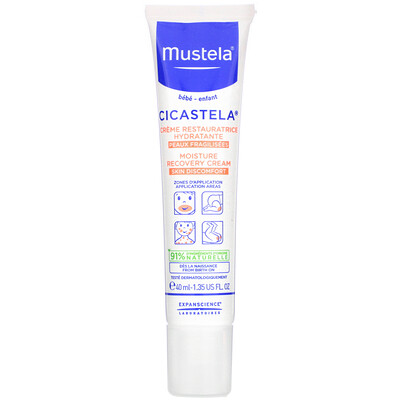 Mustela Cicastela Moisture Recovery Cream, 1.35 fl oz (40 ml)