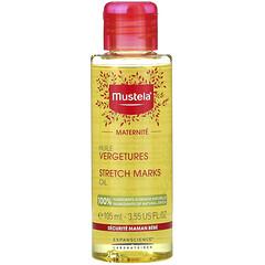 Mustela, 瘢痕線紋舒緩護膚油,無香型,3.55 液量盎司(105 毫升)