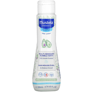Mustela, Baby, Multi-Sensory Bubble Bath with Avocado, For Normal Skin, 6.76 fl oz (200 ml)