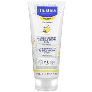 Mustela, Bebés, Loción corporal nutritiva con crema fría, Para piel seca, 200ml (6,76oz.líq.)