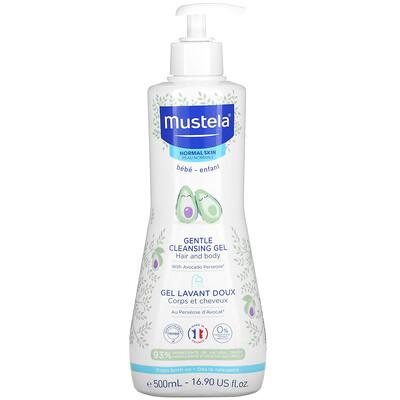 Купить Mustela Baby, Gentle Cleansing Hair and Body Gel with Avocado, For Normal Skin, 16.90 fl oz (500 ml)