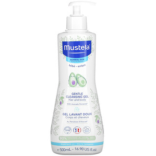 Mustela, Baby, Gentle Cleansing Hair and Body Gel with Avocado, For Normal Skin, 16.90 fl oz (500 ml)