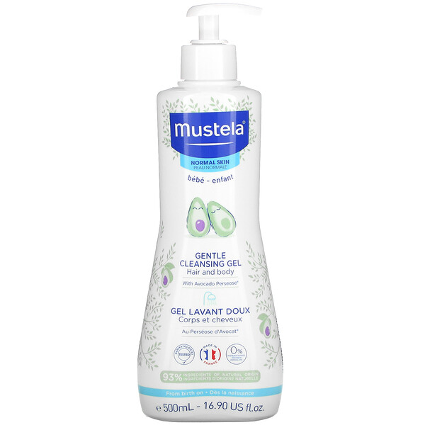 Baby, Gentle Cleansing Hair and Body Gel with Avocado, For Normal Skin, 16.90 fl oz (500 ml)