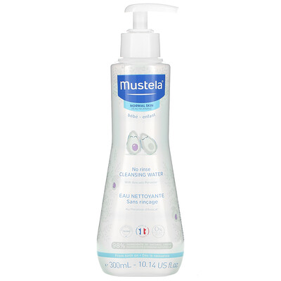 Купить Mustela Baby, No Rinse Cleansing Water, 10.14 fl oz (300 ml)