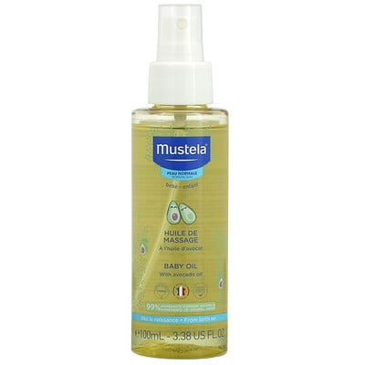 Купить Mustela Baby Oil with Avocado Oil, 3.38 fl oz (100 ml)