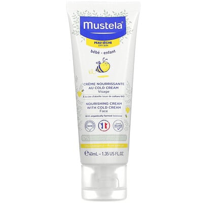 Купить Mustela Baby, Nourishing Face Cream with Cold Cream, For Dry Skin, 1.35 fl oz (40 ml)