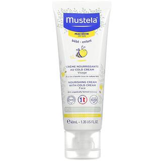 Mustela, Bebés, Crema facial nutritiva con crema fría, Para piel seca, 40ml (1,35oz.líq.)