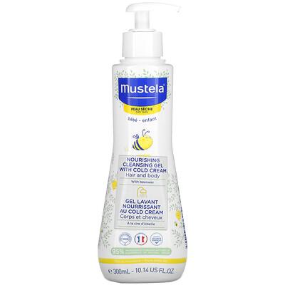 Купить Mustela Baby, Nourishing Cleansing Hair and Body Gel with Cold Cream, For Dry Skin, 10.14 fl oz (300 ml)