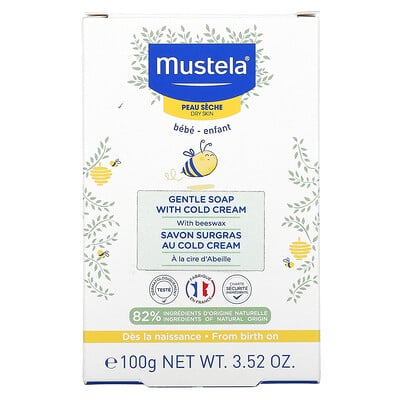 Mustela Baby, Gentle Soap with Cold Cream, 3.52 oz (100 g)