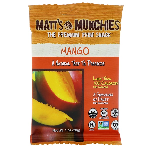 Matt's Munchies, Mango, 12 Pack, 1 oz (28 g) Each (Discontinued Item)