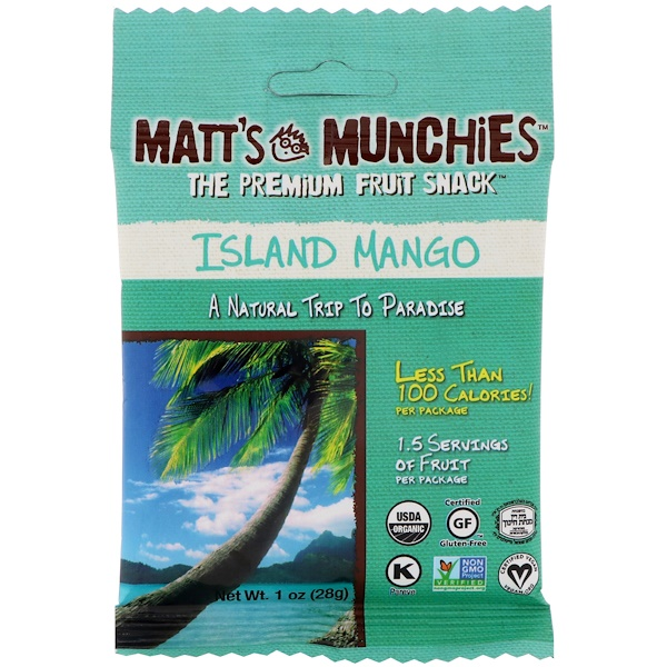 Matt's Munchies, Island Mango, 12 Pack, 1 oz (28 g) Each (Discontinued Item)