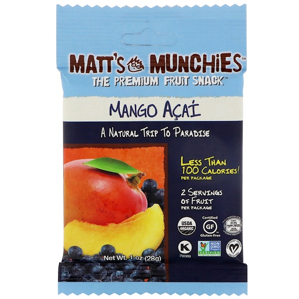 Matt's Munchies, 芒果巴西莓,12 包,每包 1 盎司(28 克)
