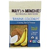 Matt's Munchies, Coco banana, empaque de 12, 1 oz (28 g) c/u