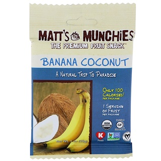 Matt's Munchies, Banana Coconut, 12 Pack, 1 oz (28 g) Each
