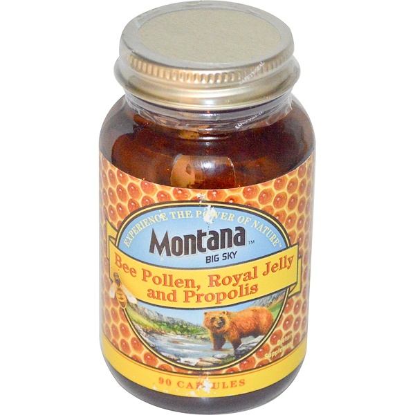 Montana Big Sky, Bee Pollen, Royal Jelly and Propolis, 90 Capsules (Discontinued Item)